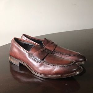 Tasso Elba Brown Men's Size 9.5M Slip On Loafers